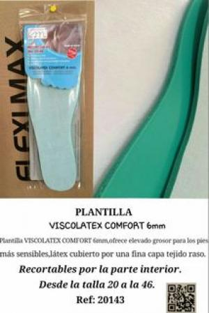 PLANTILLA VISCOLATEX COMFORT 6 MM. REF 20143