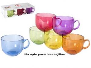 TAZON JUMBO CRISTAL 550 ML. PACK 6 UNIDADES 2985
